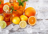 Glasses of ice tea — Stock Photo