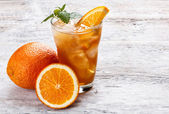Ice orange tea — Stock Photo