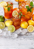 Glasses of iced tea — Stock Photo