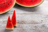 Sweet watermelon slices — Stock Photo