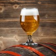 Beer and barrel — Stock Photo #50687253