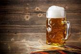Fresh light beer — Stock Photo