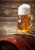 Beer in the mug — Stock Photo