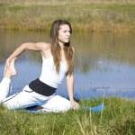 Woman doing yoga — Stock Photo #5894695
