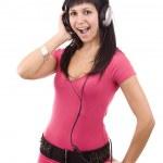 Woman with headphones — Stock Photo #6871817