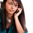 Woman with a cell phone — Stock Photo #9203791
