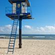 Lifeguard tower at the beach — Stock Photo