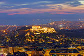 View over Athens at dawn — Stock Photo
