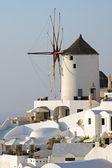 Oias famous windmill — Stock Photo