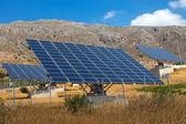 Solar panels on Crete island — Stock Photo