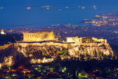 The Acropolis at night — Stock Photo