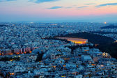 Athens with the old olympic stadium — Stock Photo