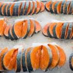 Fresh slices of salmon — Stock Photo