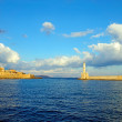 Entrance to the port of Chania - Stock Photo