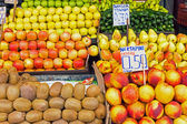 Different kinds of fruits for sale — Stock Photo