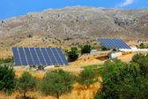 Two solar panels on Crete island — Stock Photo