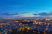 Athens at dawn — Stock Photo