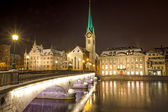 Nightscene in Zurich — Stock Photo