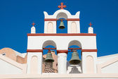 Small belltower of a church in Oia — Stock Photo