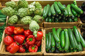 Artichoke, Zucchini and pepper — Stock Photo