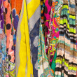 Colourful drapery for sale — Stock Photo