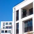 White townhouse in Berlin - Stock Photo