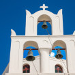 Traditional belltower of a greek church - Stock Photo