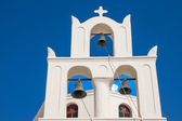 Traditional belltower of a greek church — Stock Photo