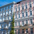 Restored houses in Berlin-Prenzlauer Berg — Stok fotoğraf