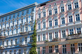 Restored houses in Berlin-Prenzlauer Berg — Stock Photo