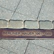 Memorial tablet for the Berlin Wall — Stock Photo #25488935