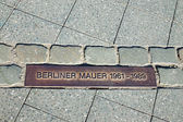 Memorial tablet for the Berlin Wall — Stock Photo