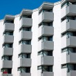Building with many small balconies — Stock Photo