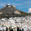 View of Mount Lycabettus in Athens — Stock Photo