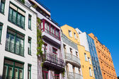 Colourful modern townhouses — Stock Photo