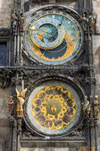 The astronomical clock in Prague — Stock Photo