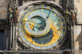 The famous astronomical clock in Prague — Stock Photo