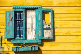 Window detail in La Boca — Stock Photo