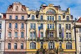 Restored historic buildings — Stock Photo