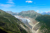 The impressing Aletsch glacier — Stock Photo