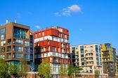 Luxury apartment houses in Hamburg — Stock Photo