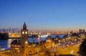 The Hamburg harbor — Stock Photo