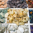 Colourful semi-precious stones — Stock Photo