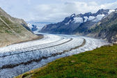 View of the Altesch glacier — Stock Photo