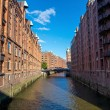 The Speicherstadt in Hamburg — Stock Photo
