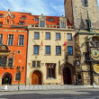 Historic buildings and the astronomical clock — Stock Photo