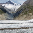 Stock Photo: Panorama of the Aletsch glacier