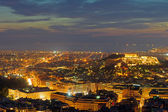 The center of Athens after sunset — Stock Photo
