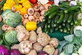 Färska grönsaker på — Stockfoto