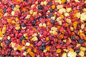 Mixed dried soft fruit at a market — Stock Photo